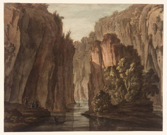 A Chasm, with Figures by Robert Adam